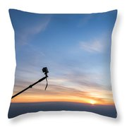 Gopro Action Sport Camera On A Boom Throw Pillow