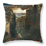 Gordale Scar Throw Pillow