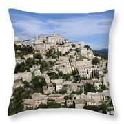 Gordes Provence France Throw Pillow