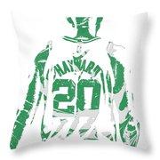Gordon Hayward Boston Celtics Pixel Art T Shirt 5 Throw Pillow
