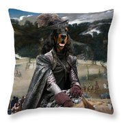 Gordon Setter Art Canvas Print - Philip Iv Hunting Wild Boar  Throw Pillow