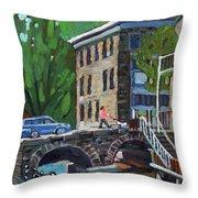 Gore Street Bridge Throw Pillow