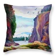 Gorge Entrance View Throw Pillow