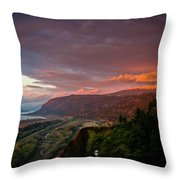 Gorge Sunset Throw Pillow
