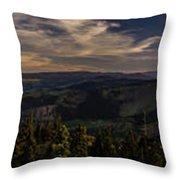 Gorge Sunset Throw Pillow