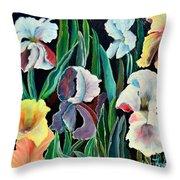 Gorgeos Iris Throw Pillow