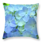 Gorgeous Blue Colorful Floral Art Hydrangea Flowers Baslee Troutman Throw Pillow