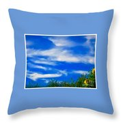 Gorgeous Blue Sky With Clouds Throw Pillow