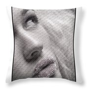Gorgeous Girl With Sugar On Her Lips Throw Pillow