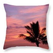 Gorgeous Hawaiian Sunset - 1 Throw Pillow