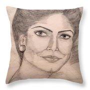 Gorgeous Lady Throw Pillow