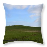 Gorgeous Rolling Hills And Fields On The Cliff's Of Moher Throw Pillow