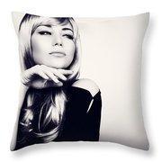 Gorgeous Woman Portrait Throw Pillow