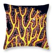 Gorgonian Coral Fan Throw Pillow