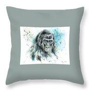 Gorila2 Throw Pillow