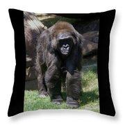 Gorilla 1 Throw Pillow