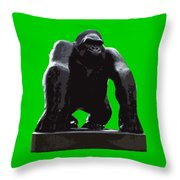 Gorilla Art Throw Pillow
