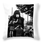 Gorilla Fun Throw Pillow