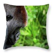 Gorilla Portrait Throw Pillow