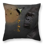 Gorillas Throw Pillow