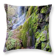 Gorman Falls At Colorado State Park II - San Saba Texas Hill Country Throw Pillow