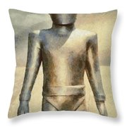 Gort From The Day The Earth Stood Still Throw Pillow