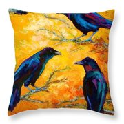 Gossip Column II Throw Pillow