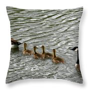 Got All Your Ducks In A Row Throw Pillow