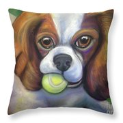 Got Balls? King Charles Throw Pillow