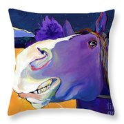 Got Oats      Throw Pillow by Pat Saunders-White