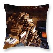 Got Wood Throw Pillow
