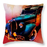 Got Wood Surf Woody Wonderland Watercolour Throw Pillow