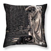 Goth At Heart - 3 Of 4 Throw Pillow by Scott  Wyatt