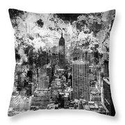 Gotham Castles Throw Pillow