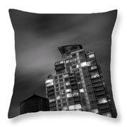 Gotham Rooftop Throw Pillow