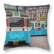 Gothenburg Public Tram Throw Pillow