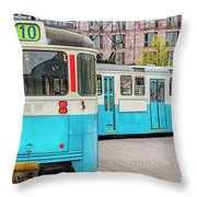 Gothenburg Public Tramcar Throw Pillow