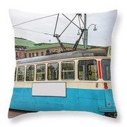 Gothenburg Tram Car Throw Pillow