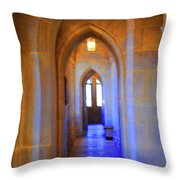 Gothic Arch Hall Throw Pillow