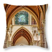 Gothic Arches - Holy Name Cathedral - Chicago Throw Pillow