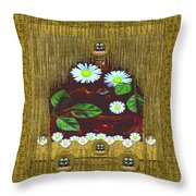 Gothic Bat In The Night Throw Pillow