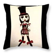 Gothic Burlesque Girl Throw Pillow