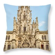 Gothic Cathedral In Havana Throw Pillow