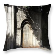 Gothic Darkness. Old Gate Throw Pillow