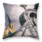 Gothic Faith Throw Pillow