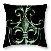 Gothic Fleur De Lis Throw Pillow