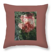 Gothic Flower Throw Pillow