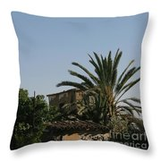 Gothic Gate Cyprus Throw Pillow