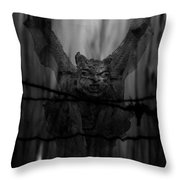 Gothic Guardian Bw Throw Pillow