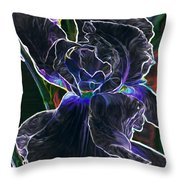 Gothic Iris Throw Pillow